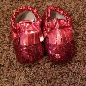 Other - Red sequin moccasins